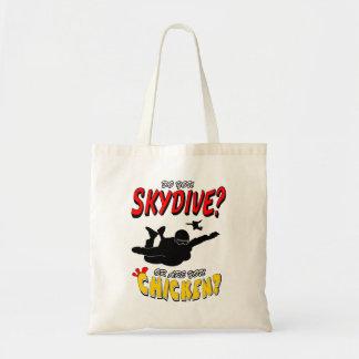 Skydive ou poulet ? (noir) tote bag