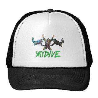 Skydive - texte vert casquettes