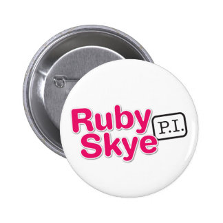 Skye rouge P.I. Buttons (blanc) Badges