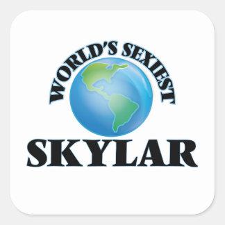 Skylar le plus sexy du monde autocollant carré