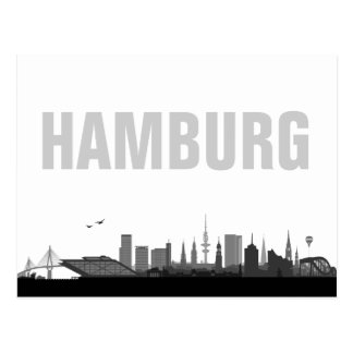 Skyline de Hambourg - carte postale/carte de