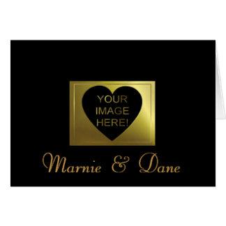 Sleel épousant la collection d'or noire carte de vœux