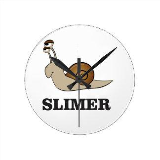 slimer l'escargot horloge ronde