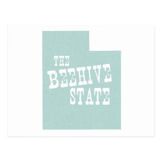 Slogan de devise d'état de l'Utah Carte Postale