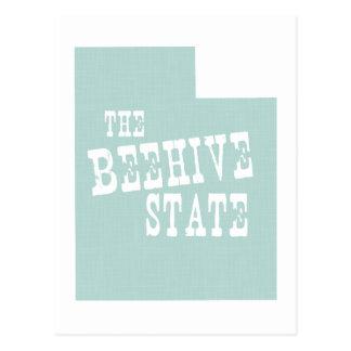 Slogan de devise d'état de l'Utah Cartes Postales