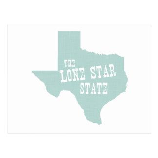 Slogan de devise d'état du Texas Carte Postale