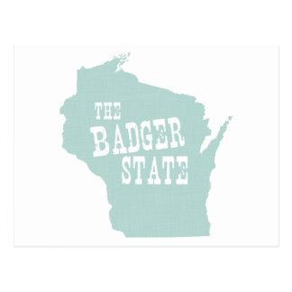 Slogan de devise d'état du Wisconsin Cartes Postales