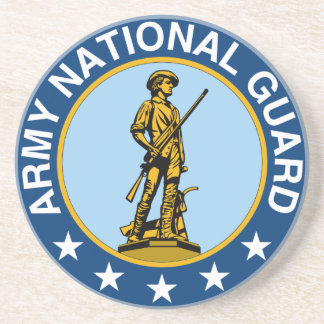 Slogan de garde nationale d'armée toujours prêt dessous de verre
