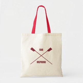 Slogan de inspiration d'aviron et avirons croisés tote bag