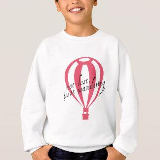 Slogan non perdu et juste errant de voyage sweatshirt