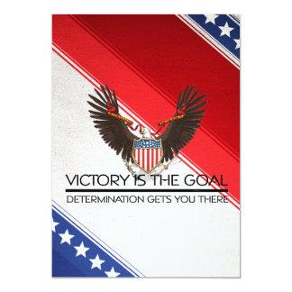 Slogan politique de victoire de PIÈCE EN T Carton D'invitation 12,7 Cm X 17,78 Cm