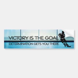 Slogan SUPÉRIEUR de victoire d'hockey Autocollant De Voiture