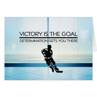 Slogan SUPÉRIEUR de victoire d'hockey Cartes