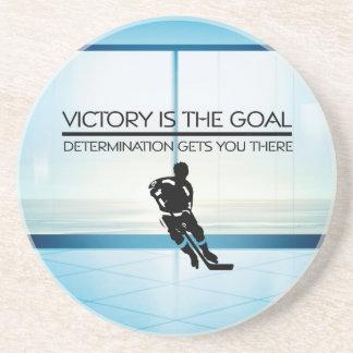 Slogan SUPÉRIEUR de victoire d'hockey Dessous De Verre En Grès