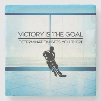 Slogan SUPÉRIEUR de victoire d'hockey Dessous-de-verre En Pierre