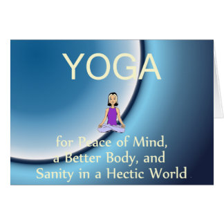 Slogan SUPÉRIEUR de yoga Cartes