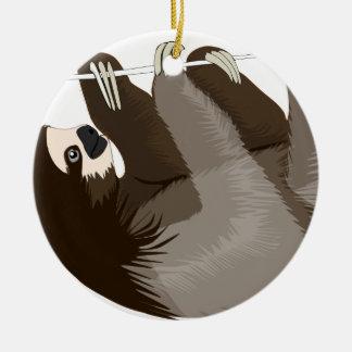 slothcolour ornement rond en céramique