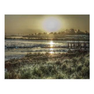Slough à la carte postale d'aube