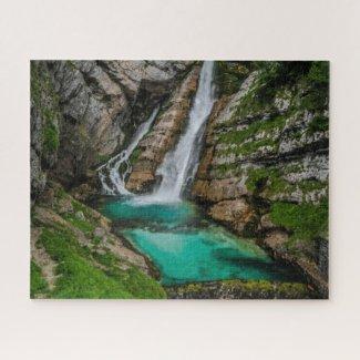 Slovenia Jigsaw Puzzle - Savica waterfall
