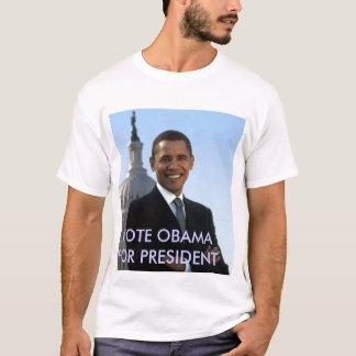 small_obama_image, VOTE OBAMA POUR LE PRÉSIDENT T-shirt