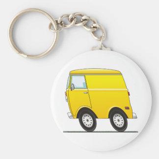Smart Van Yellow Porte-clé Rond
