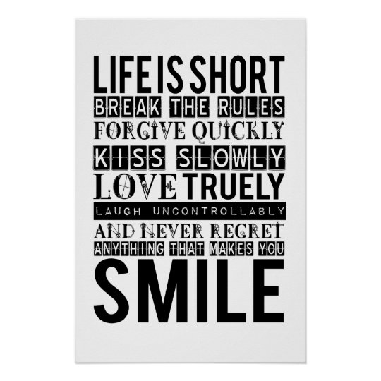 Smile Quotes Typography poster