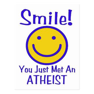 Smiley athée carte postale