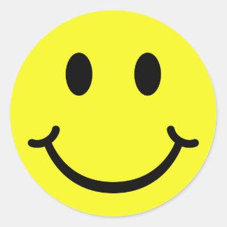 Smiley classique sticker rond