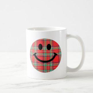 Smiley d écossais de tartan mug à café