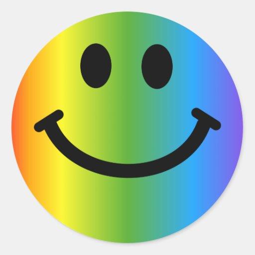 Smiley d'arc-en-ciel adhésifs