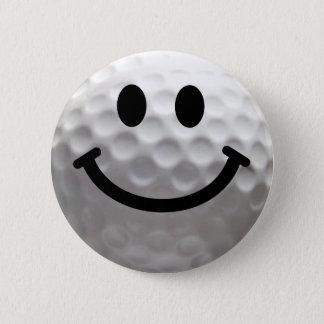 Smiley de boule de golf badge