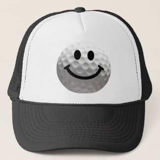 Smiley de boule de golf casquette