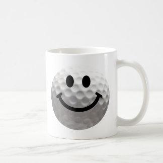 Smiley de boule de golf mug