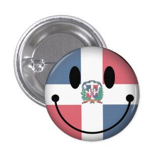 Smiley de la République Dominicaine Badge Rond 2,50 Cm