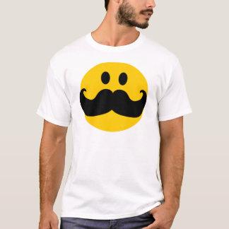 Smiley de moustache (couleur personnalisable t-shirt