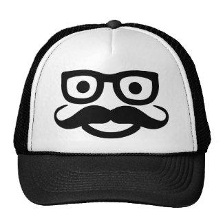 smiley de moustache en verre casquette
