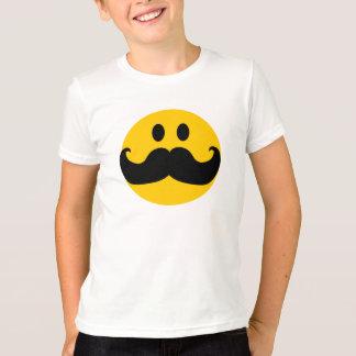 Smiley de moustache t-shirt
