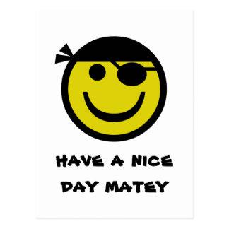 Smiley de pirate cartes postales