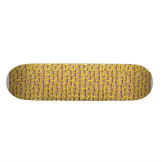 smiley de planche à roulettes skateboard customisable