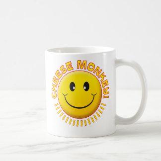 Smiley de singe de fromage mug