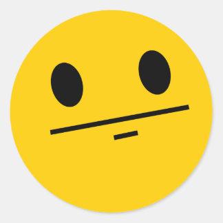 Smiley de visage de tisonnier adhésifs ronds