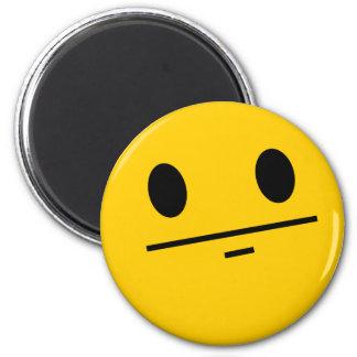 Smiley de visage de tisonnier magnet rond 8 cm