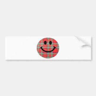 Smiley d'écossais de tartan adhésif pour voiture