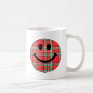 Smiley d'écossais de tartan mug à café