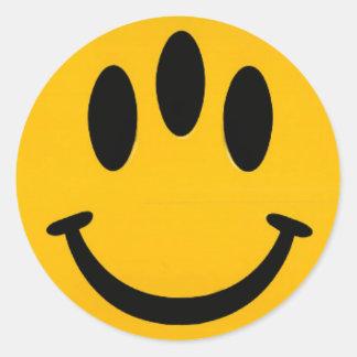 Smiley d'évolution autocollant rond