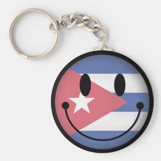 Smiley du Cuba Porte-clé Rond