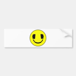Smiley du DJ Adhésif Pour Voiture