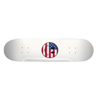 Smiley effronté de drapeau des Etats-Unis Plateaux De Skateboards Customisés