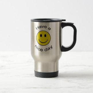 Smiley effronté mug de voyage en acier inoxydable