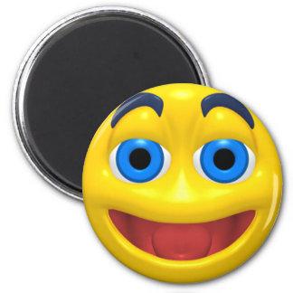 Smiley heureux de smilie magnet rond 8 cm